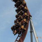 Roller coaster front row