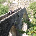 Historic bridge of Plaka built with crushed limestone, goat hair and 22,000 egg whites