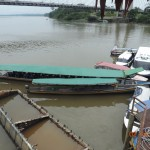 Motor canoes for travel on Rio Napo