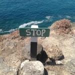 Do not walk off the several hundred foot cliff