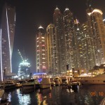 Marina area at night